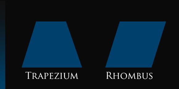 Squares Trapezium Rhombus