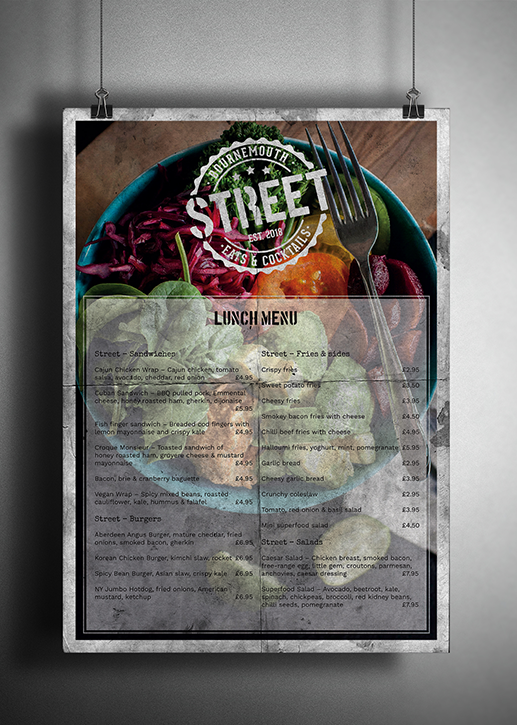 Street Lunch Menu